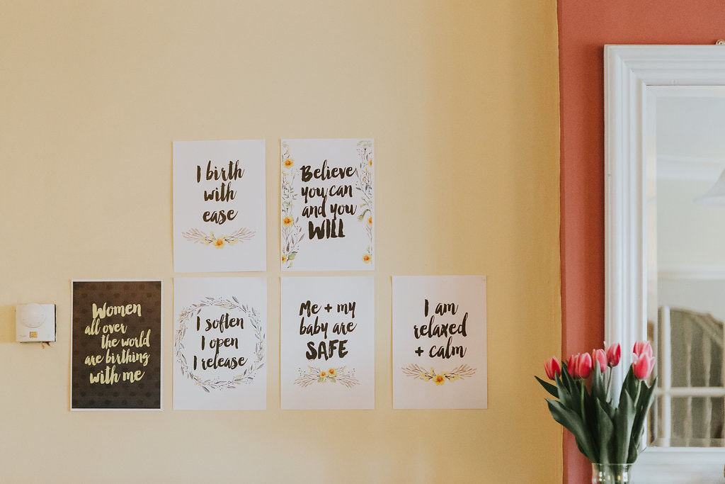 Romford Hypnobirthing course uses these birth affirmations, photo taken by Alina Clark